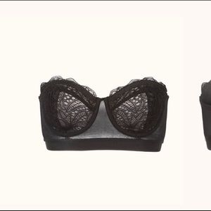 NWT Lively Lace Black Strapless Bra